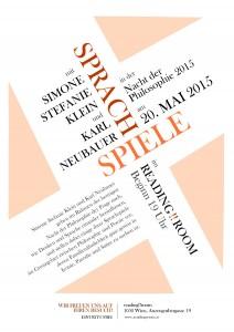 Sprachspiele - Poster für die Nacht der Philosophie 2015