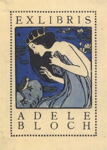 Gebrauchsgrafik als Kunstwerk: ein um 1905 von Kolo Moser gestaltetes Ex Libris für Adele Bloch