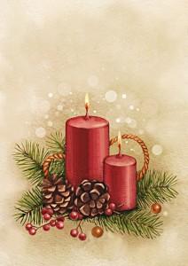 Weihnachtskarte Vintage Style