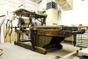 Steindruckpresse Foto 1