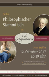 Philosophischer Stammtisch: Poster für die Veranstaltung